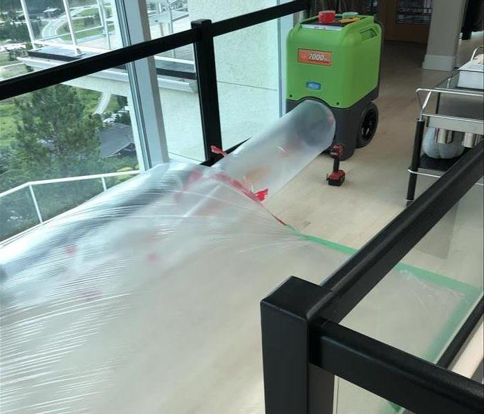 Drying flooring using SERVPRO